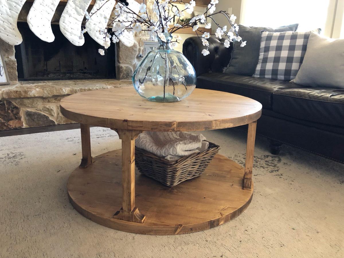 - DIY Round Coffee Table - Shanty 2 Chic