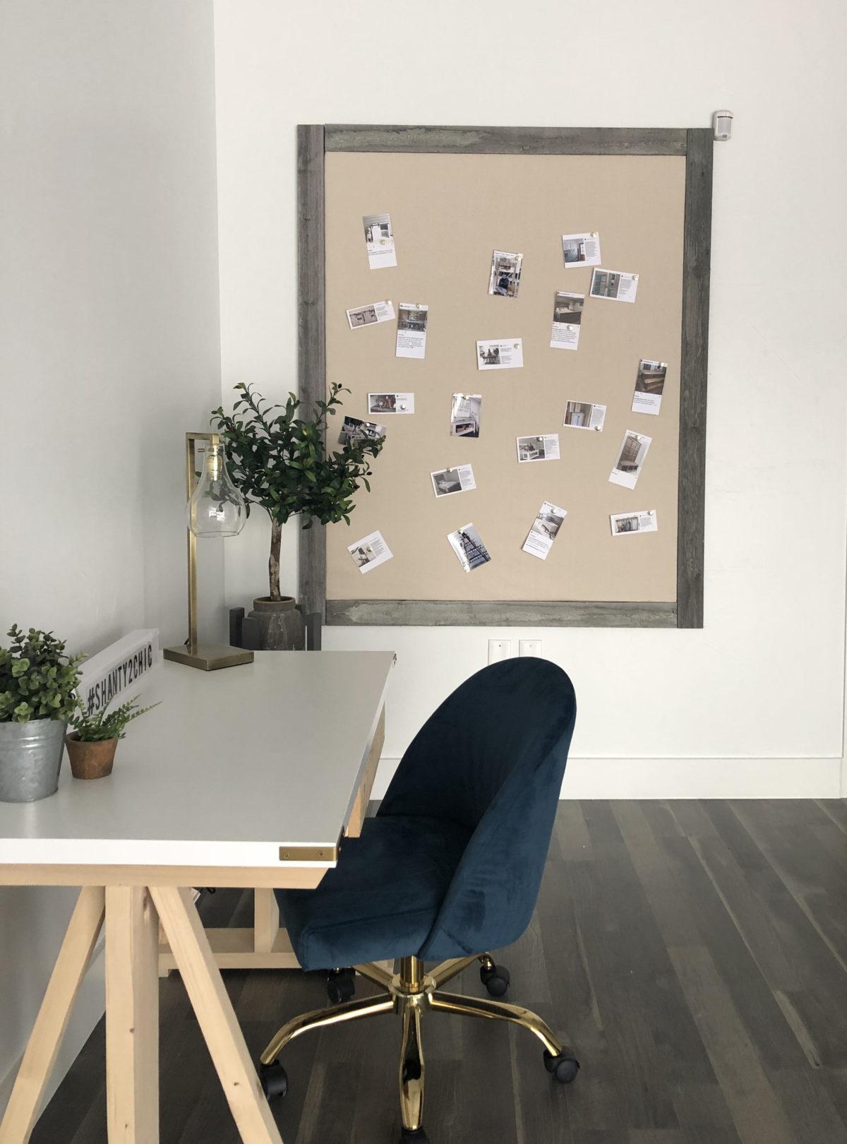 DIY Rustic Wall Memo Board using Insulation