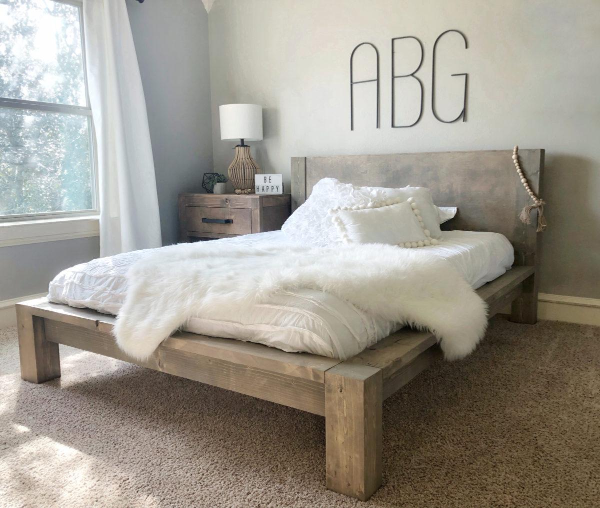 fec1b42912 DIY Rustic Modern Queen Bed - Shanty 2 Chic