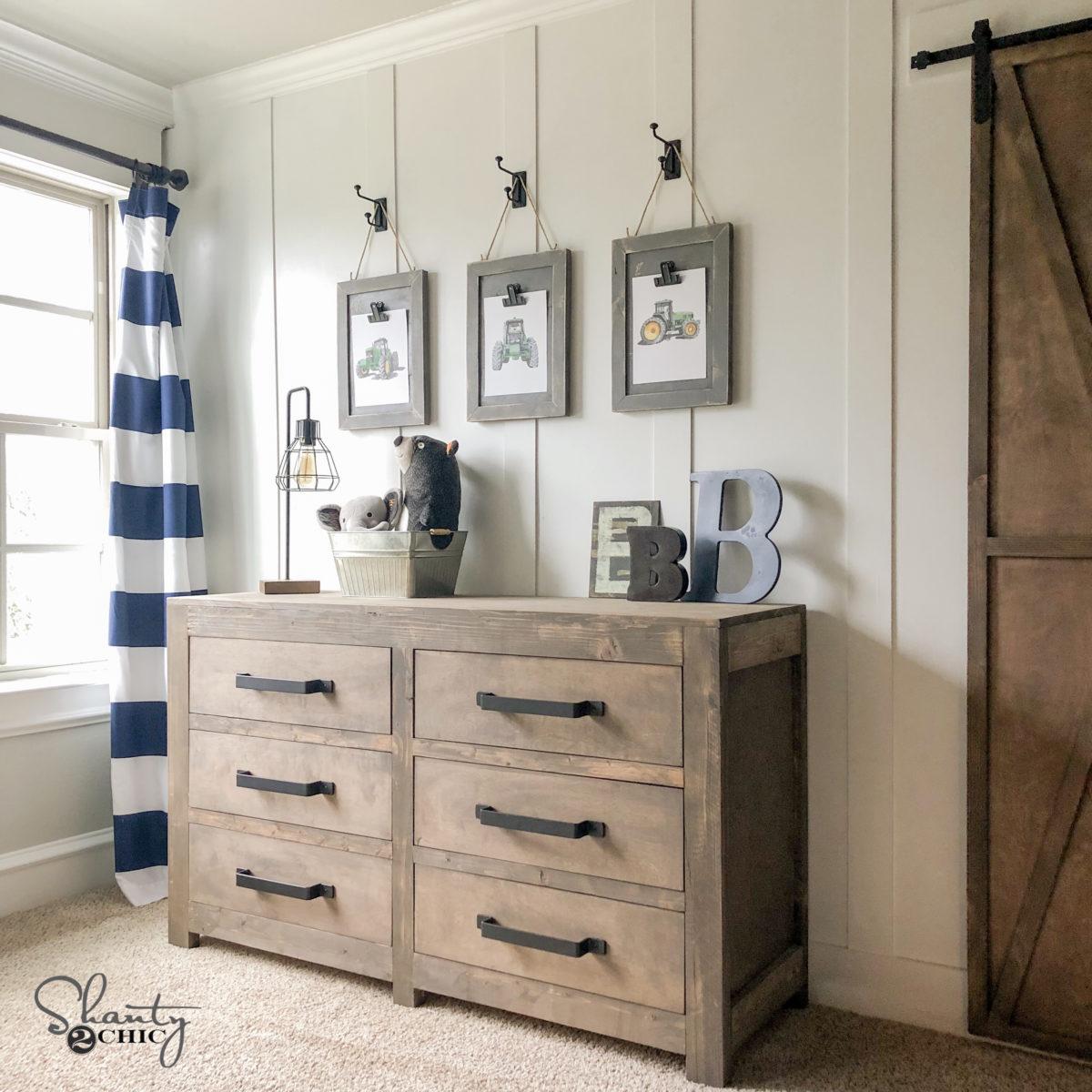 Diy Modern Farmhouse 6 Drawer Dresser Shanty 2 Chic