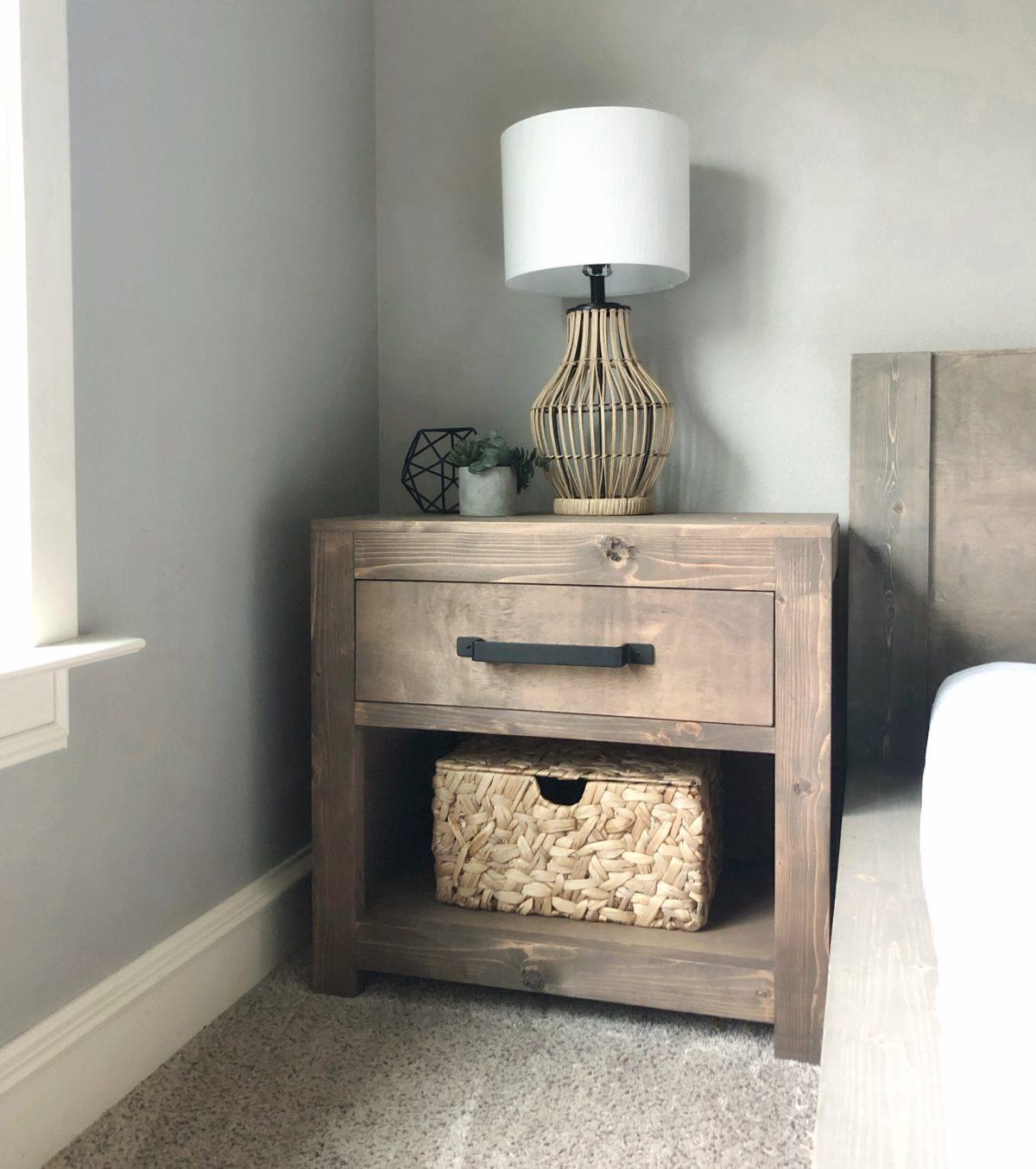 DIY Modern Farmhouse Nightstand