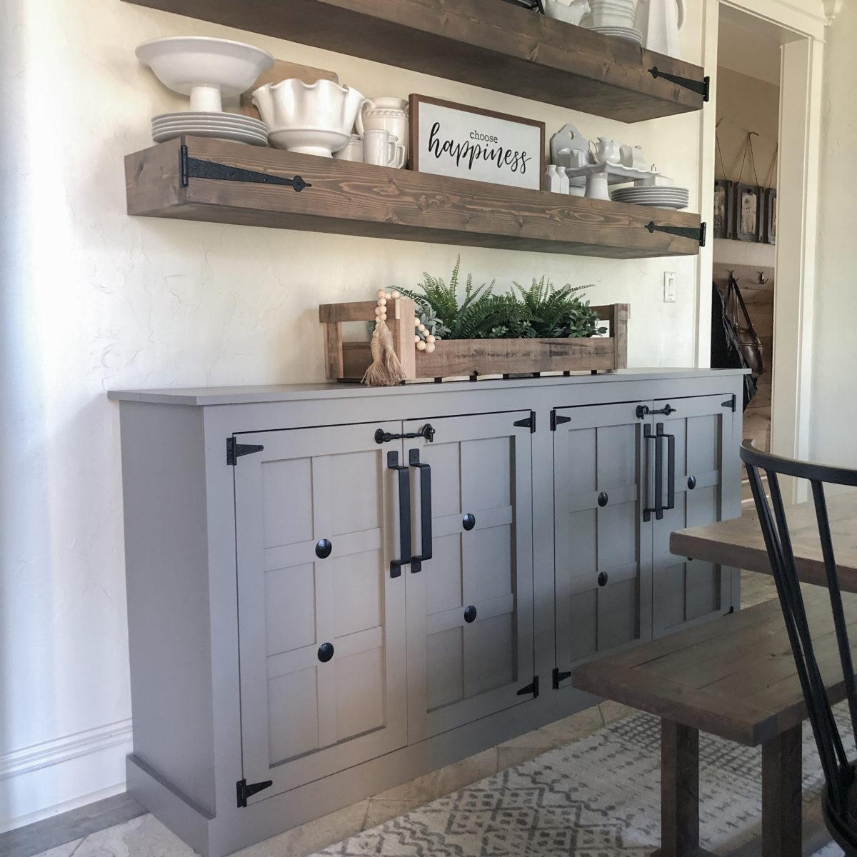 Diy Modern Farmhouse Cabinet Shanty 2 Chic