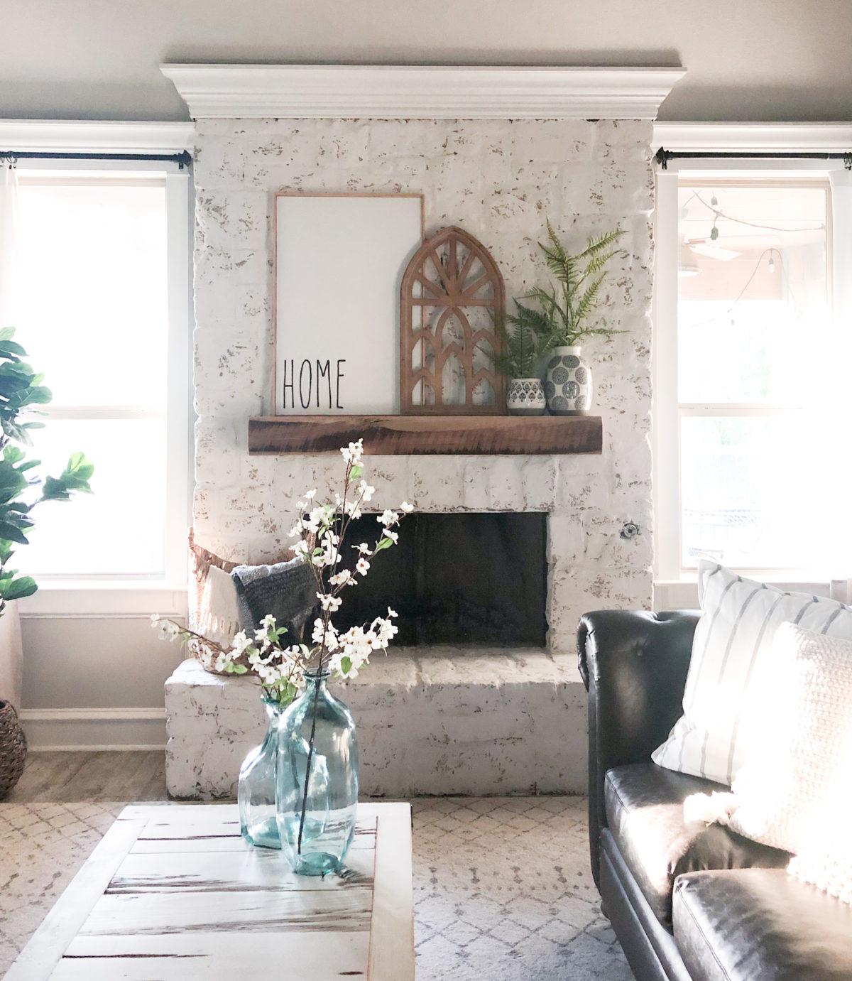 Diy 65 Fireplace Transformation Shanty 2 Chic