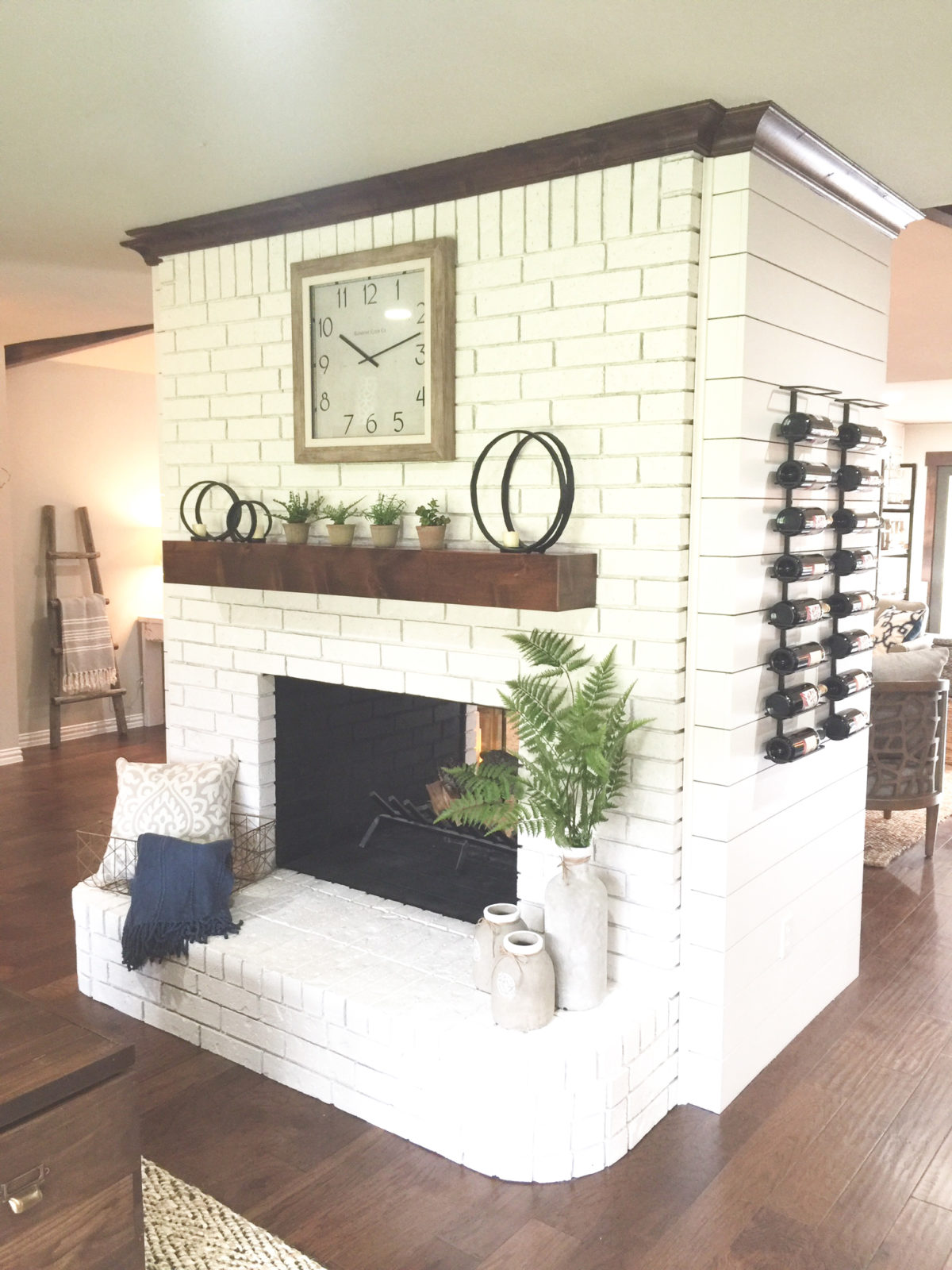 Pleasing Diy Painted Brick Fireplace Shanty 2 Chic Interior Design Ideas Grebswwsoteloinfo