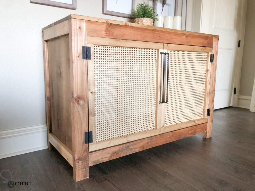 size 40 2a063 63a6d DIY Cane Cabinet - How to Build with Free Plans - Shanty 2 Chic