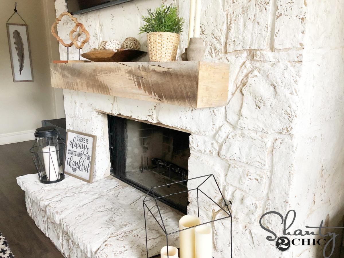 How To German Schmear A Fireplace Shanty 2 Chic