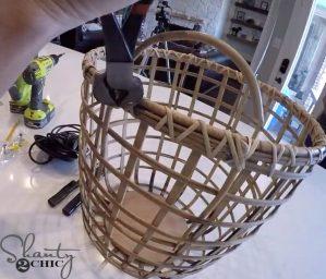 Basket Chandelier Hack