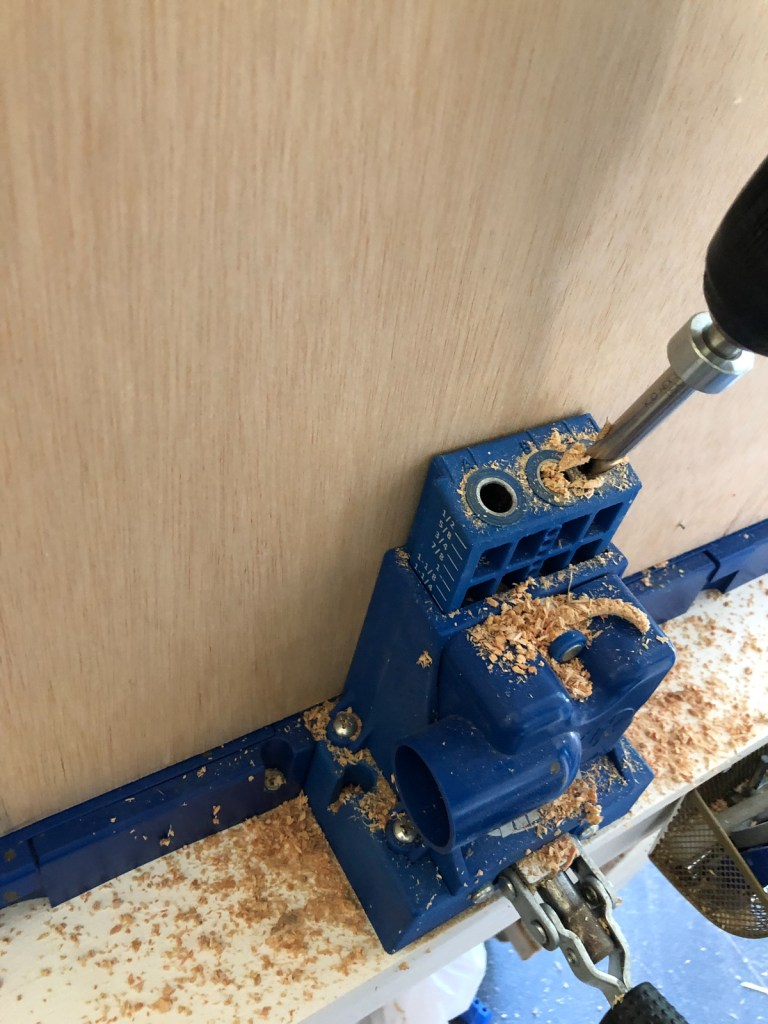 This image has an empty alt attribute; its file name is add-pocket-holes-to-back-piece-plywood-768x1024.jpg