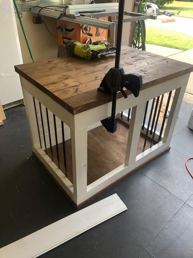 Farmhouse Barn Door Dog Crate
