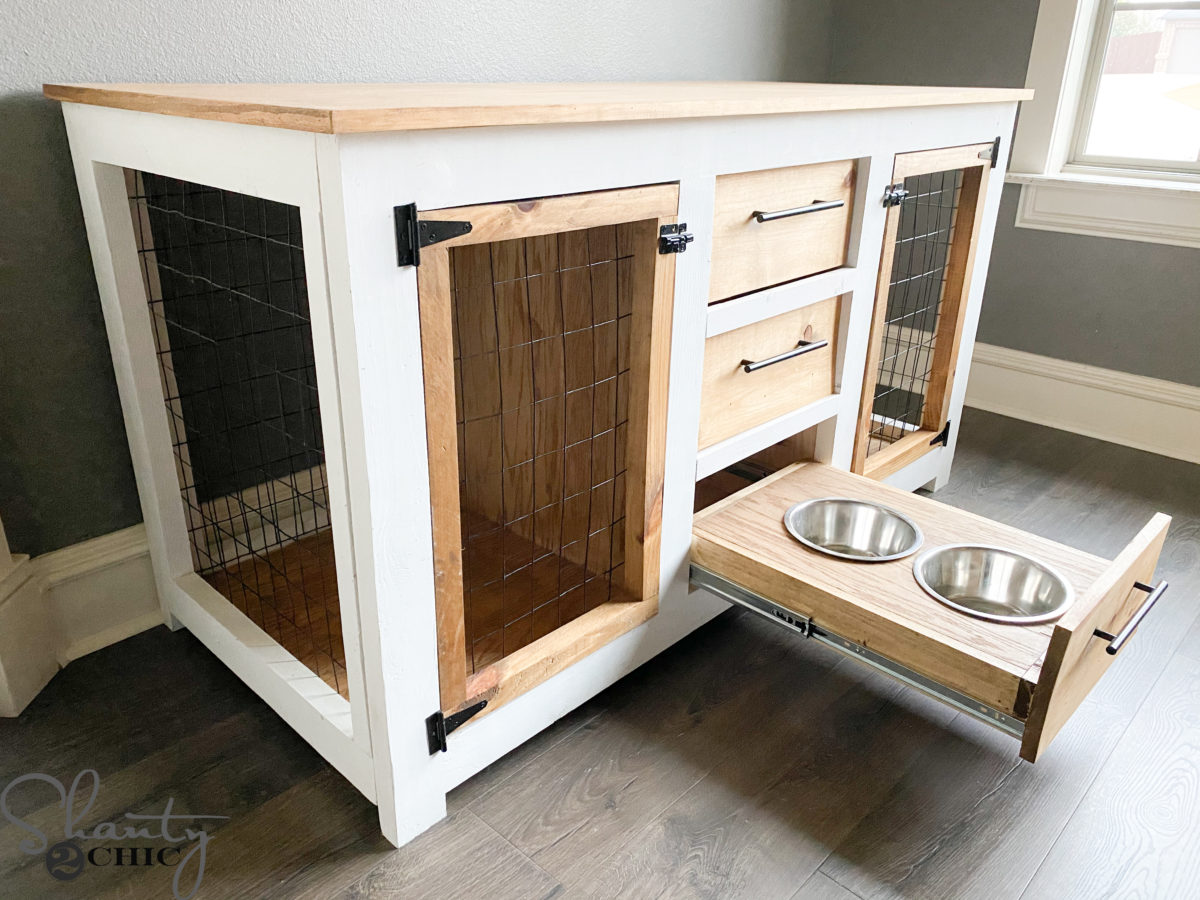 Picture of: Diy Dog Crate Console Shanty 2 Chic