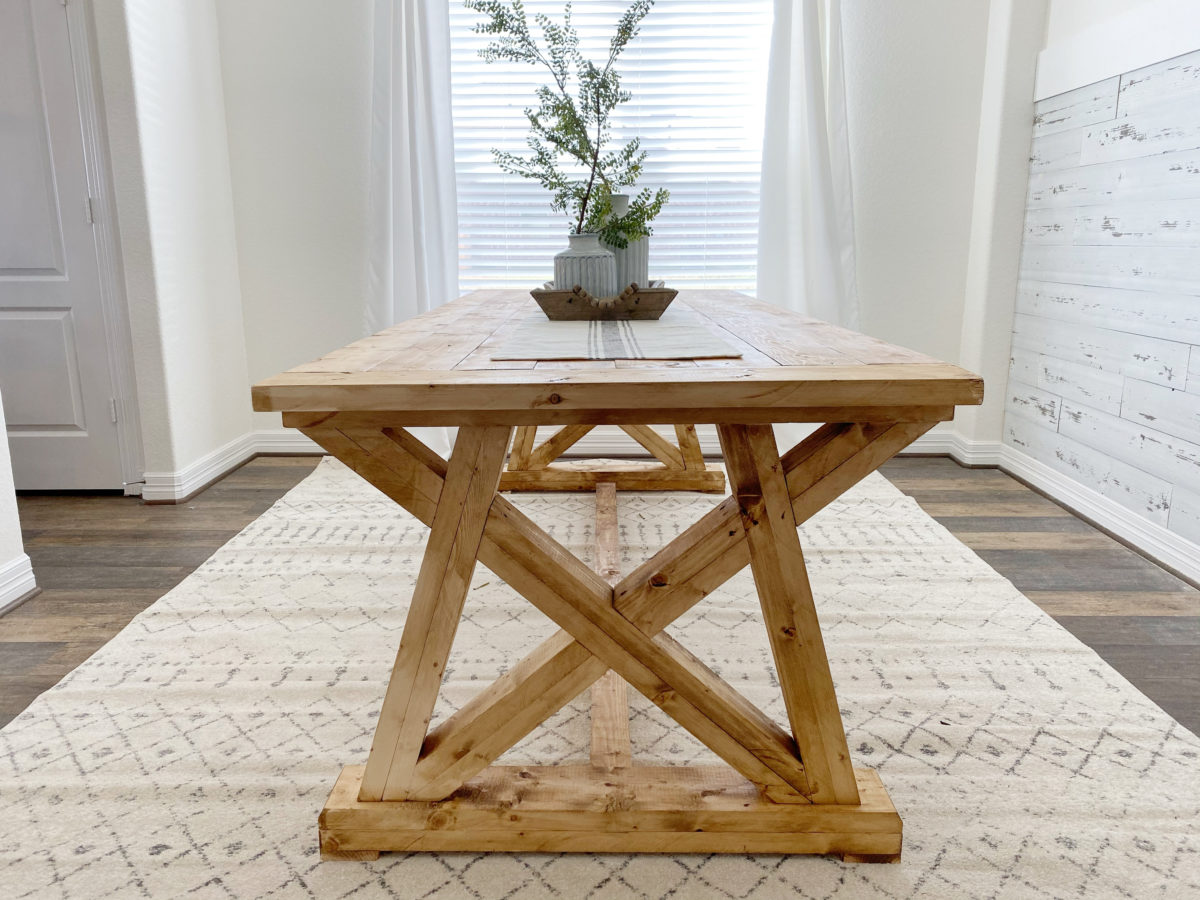 diy angle base dining table shanty 2 chic