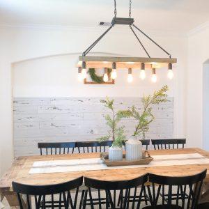 DIY Wood Wall Dining Room