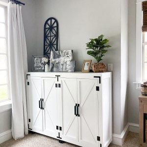 Shanty2Chic DIY Farmhouse Storage Cabinet