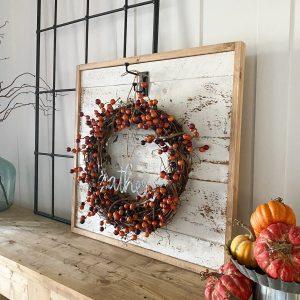 Shanty2Chic DIY Farmhouse Wreath Display