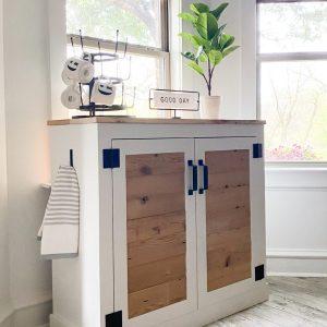 Modern Farmhouse Coffee Cabinet
