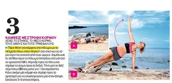 Πρόγραμμα σύσφιγξης για γυναίκες: Κάνε αυτές τις 8 ασκήσεις για σούπερ σώμα