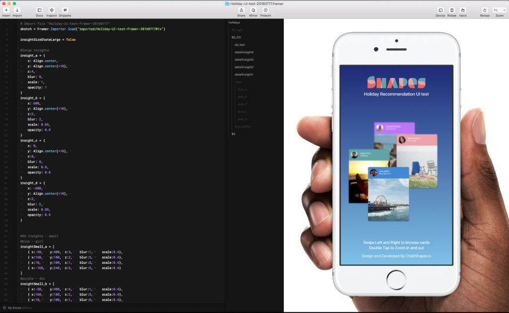 framer-interface