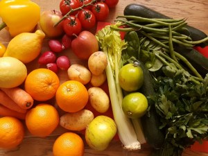 Healthy cooking fruit and veg