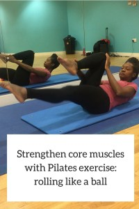 Pilates excercise rolling like a ball