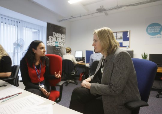 Suky Bhaker speaking with former Home Secretary Amber Rudd (Picture: PA)