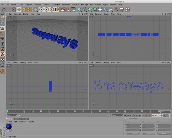 A Quick Tutorial Preparing Cinema 4D Files for Shapeways