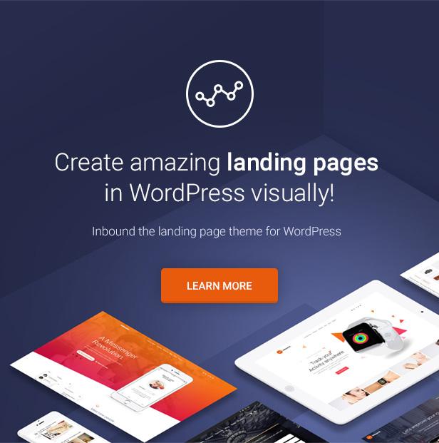 Inbound WordPress Landing Page Theme - Landing Pages, Landing Page, Product Landing Pages