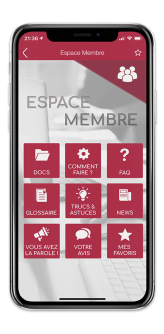 Application mobile Shapper espace membre