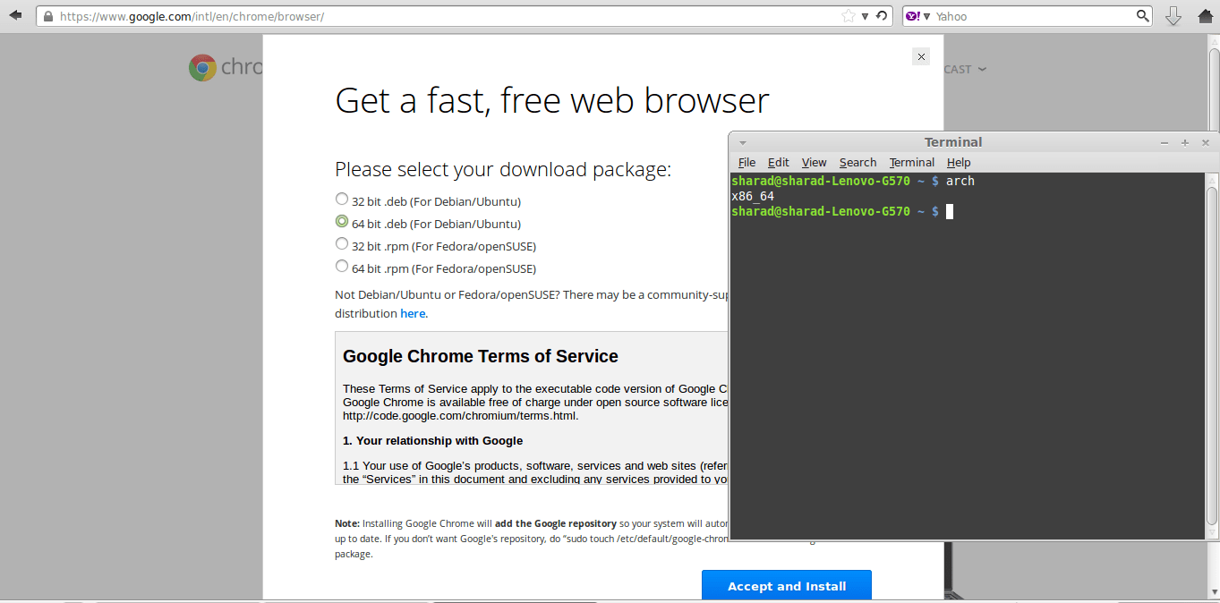 Quick installation of Google Chrome in Linux Mint 15 Olivia