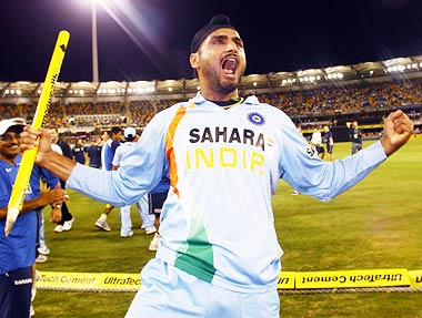 Jubilant Harbhajan Singh