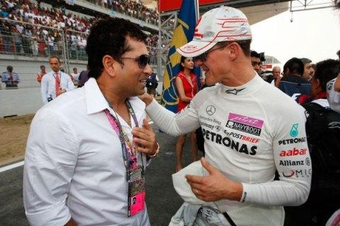 Sachin Tendulkar & Michael Schumacher