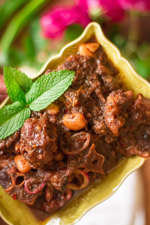 Braised Jamaican Oxtails and Butter Beans