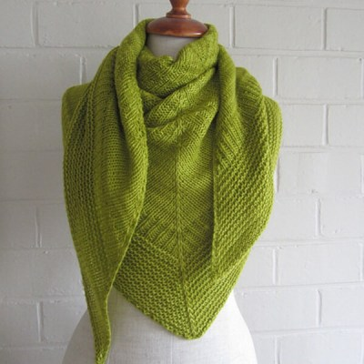 top down triangle shawl