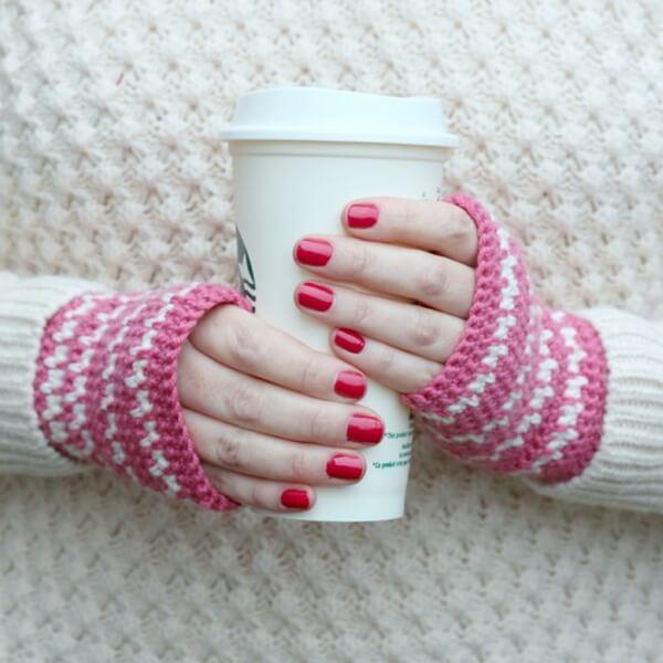 Spike Stitch Crochet Handwarmers