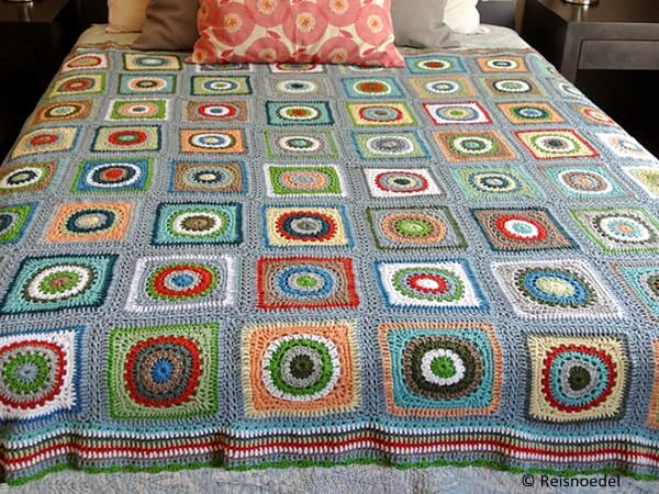 Textured Circles Blanket