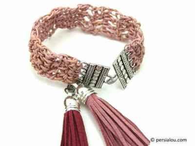 Crochet Leather Bracelet