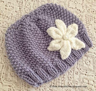 texture knit toddler hat pattern