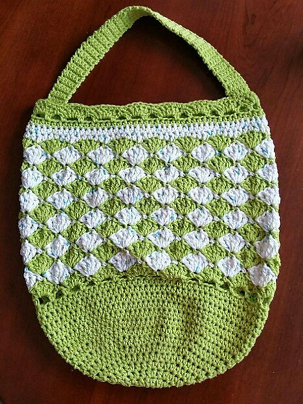 Seashell Wishes Crochet Market Bag