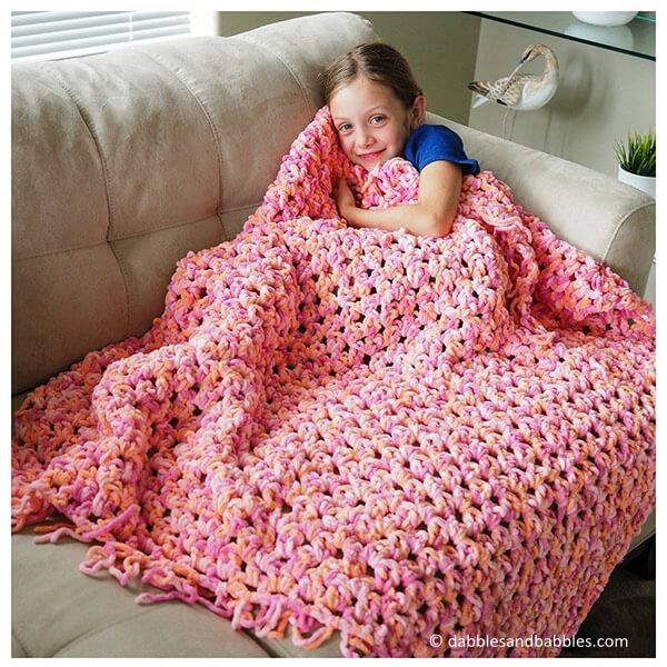 Easy Cozy Crochet Blanket
