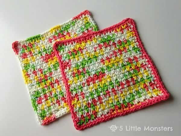 Moss Stitch Dishcloth