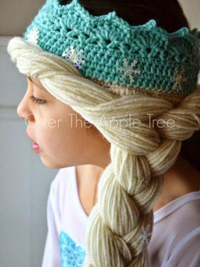 Elsa Crown With Hair