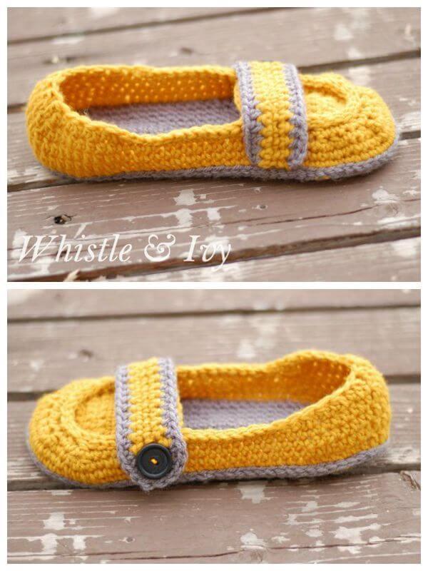 Women's Button Strap Slippers