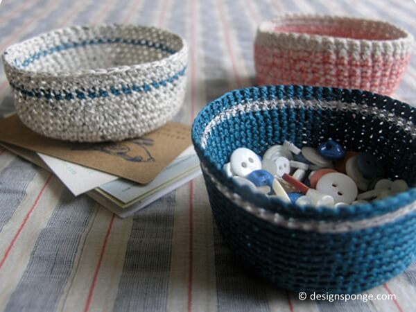 Mini Crochet Baskets
