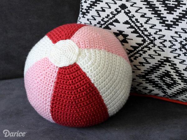 Beach Ball Crochet Pillow