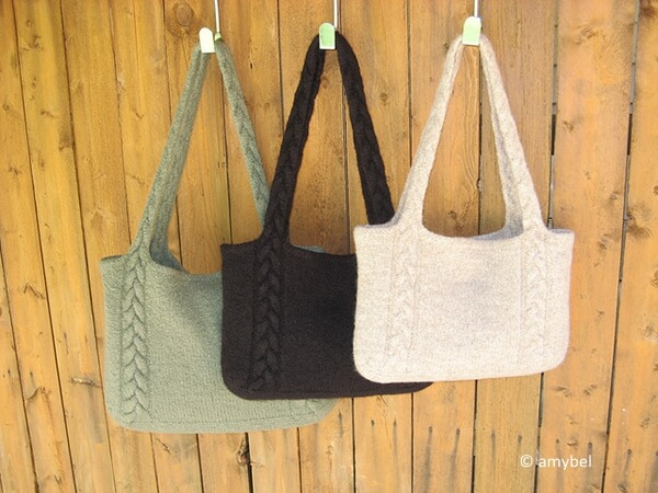 Braided Cable Handle Tote