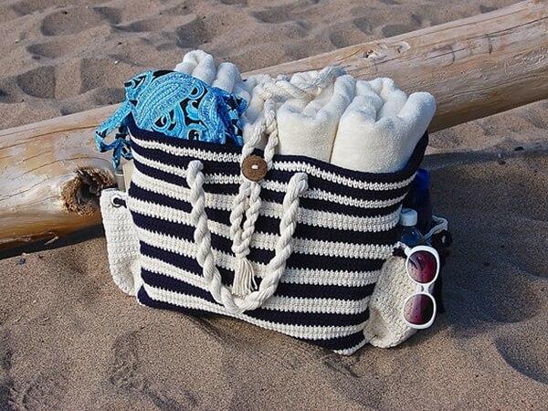 """""""Nautical Knots"""" Beach Bag"""