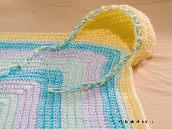 Crochet hoodie blanket