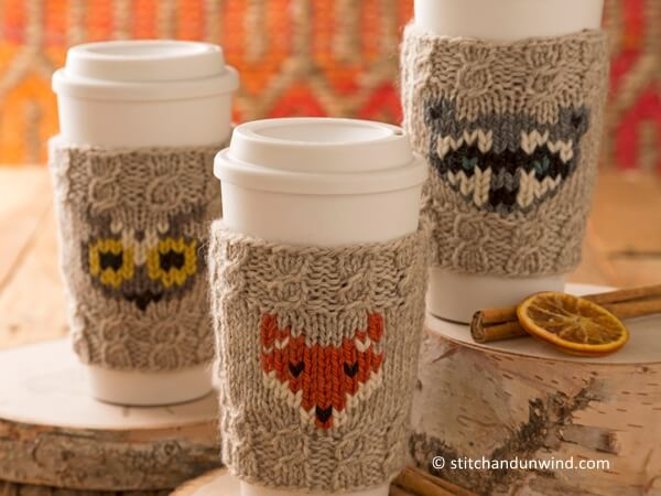 Forest Folk Cup Cozies