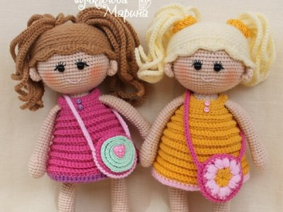 Crochet doll pattern Pumposhka