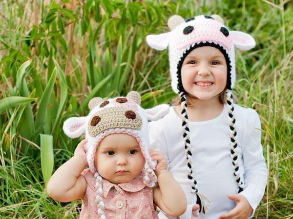 Cow Hat Crochet Pattern