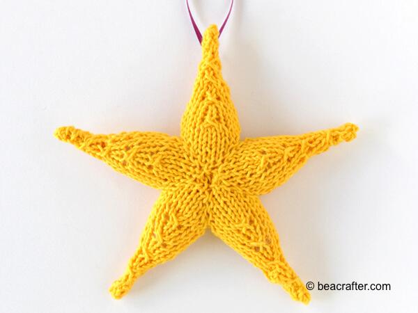 Knit Star Ornament